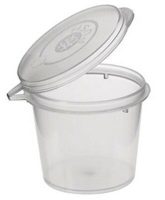 100 x 30ml hinged lid shot/sauce container