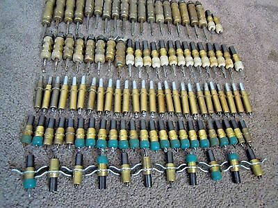 102 Assorted Clecos Cylindrical Wedgelok Wing Nut Some With Rub Caps Grip Varies