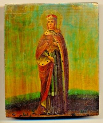 Russian  Imperial Antique Icon  St. Olga  original (#2210n)