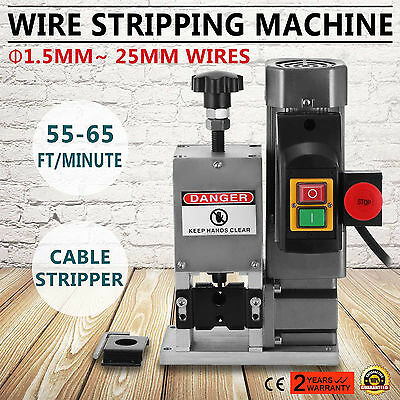 Powered Electric Cable Wire Stripping Machine 1/4HP Portable Copper Wire ON SALE