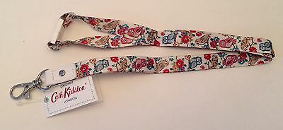 Cath Kidston Lanyard - - Mini Owls and Flowers Design -- So pretty! BNWT