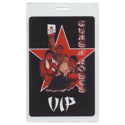 Guns N' Roses authentic 2006 Laminated Backstage Pass Chinese Democracy Tour