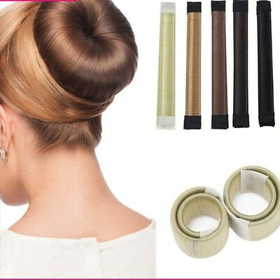 AU Women Former Foam French Twist Hair Styling Donut Magic DIY Bun Maker Tool