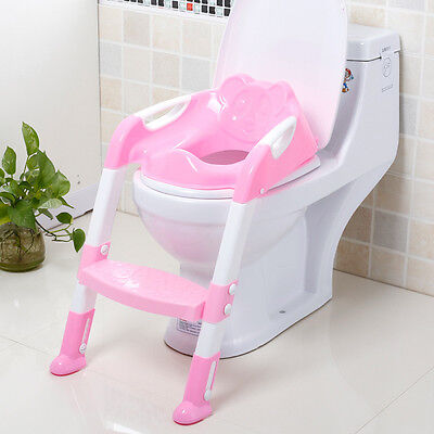 Potty Training Toilet Seat  3 In 1 With Step Stool Ladder For Child Toddler AW89