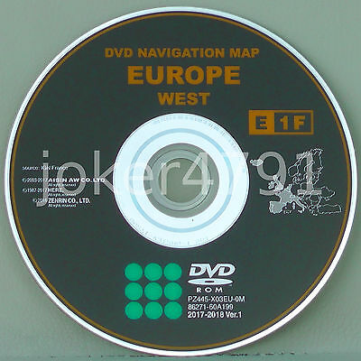 Toyota/Lexus original navigation DVD E1F 2017/2018 Ver. 1 West Europe, NEW