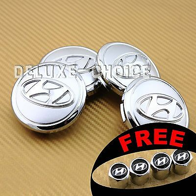 SET OF 4 CENTER CAP HUB EMBLEM BADGE CAR ALLOY WHEEL LOGO COVER for HYUNDAI