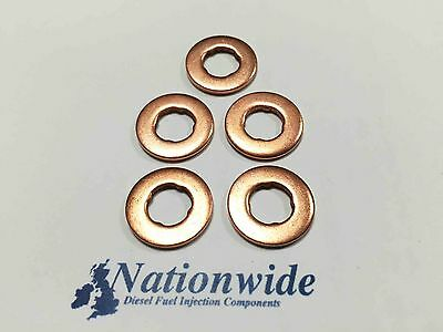 Volvo V70 II D5 2.4 Common Rail Diesel Injector Washers/Seals x 5