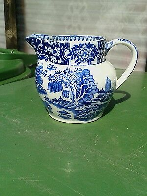 Antique blue and white jug excellent condition