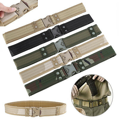 Tactical Military Hiking Hunting Security Utility Belt Adjustable Strap Buckle
