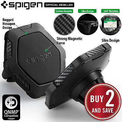 Car Mount Holder Dock, Genuine Spigen QS11 Air Vent Magnetic for iPhone / Galaxy