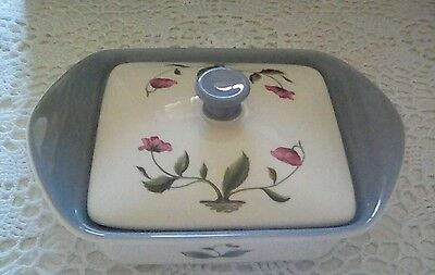 Wedgwood Bone China Mayfield Pattern Grey Butter box/dish with lid. RARE