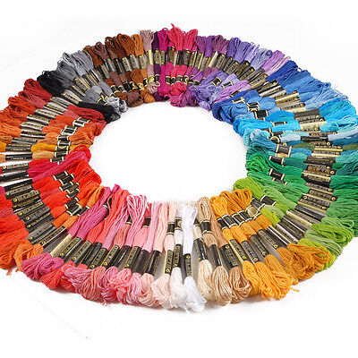 Pack of 100 Coloured Cross Stitch Embroidery Thread Floss