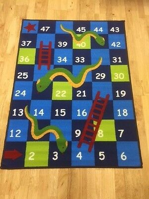 CHILDRENS Play Rug Snakes and Ladders Girls and Boys FLOOR CARPET