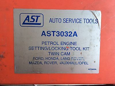 AST3032A Petrol Engine Setting/locking Tool Kit Twin Cam Ford, Land Rover Etc