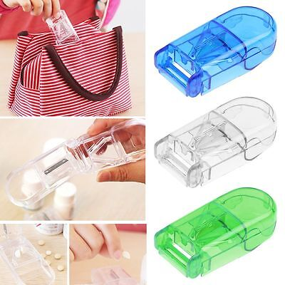 Tablet Pill Cutter/Medicine Split Box Case Half Crusher Grinder Divider Cutting