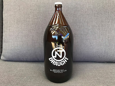 FULL 2L NT Draught Beer DARWIN STUBBY Glass Bottle, No longer Being Produced