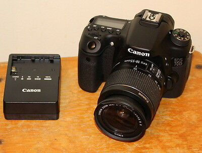 Canon EOS 70D 20.2 MP Digital SLR Camera,18-55mm IS II lens,Charger & Bag Bundle