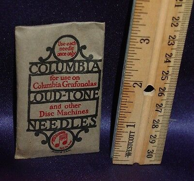 One  Pkg of Unopened Columbia Disc Phonograph Grafonola Needles About 100