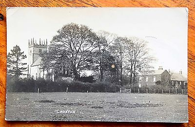 Posted 1912 Photo Postcard Rp Lincolnshire Croxton Church Houses