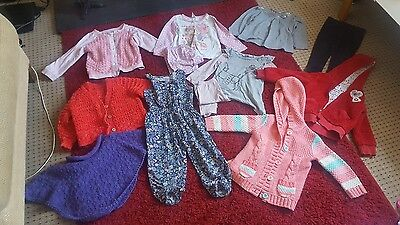 bundle of girls clothes aged 2-3