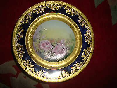 Gorgeous gilt Limoges Fine China Plate hand painted