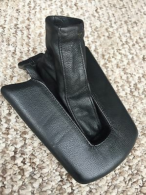 Bmw Z4 E85 E86 Leather Handbrake Handle Gaitor Cover Black