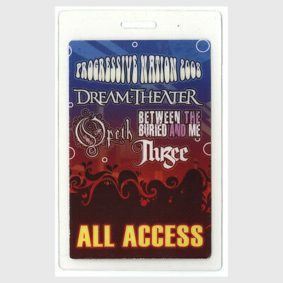 Dream Theater 2008 Laminated Backstage Pass Progressive Nation Tour Opeth Thrice