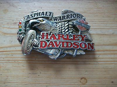 Harley Davidson Vintage Belt Buckle 1992 Asphalt Warrior Rare Buckle.