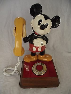 Vintage The Mickey Mouse Phone 1976 Disney Rare Art Collector Decor Style Home