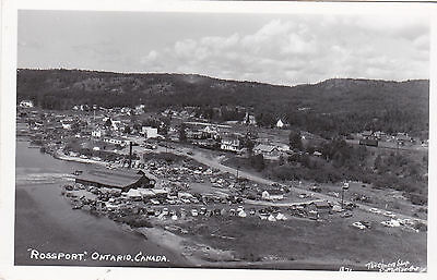"""RP; Aerial View of """"Rossport"""", Ontario, Canada, 10-20s"""