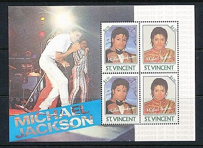 Michael Jackson Miniature Sheet - St Vincent