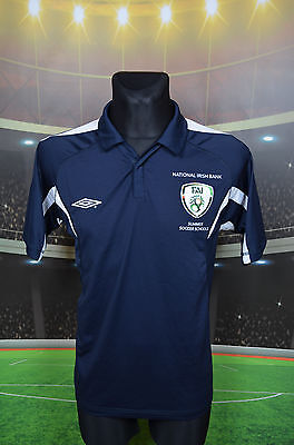 Ireland Eire Umbro Summer Soccer Schools Football Shirt (M) Jersey Top Trikot
