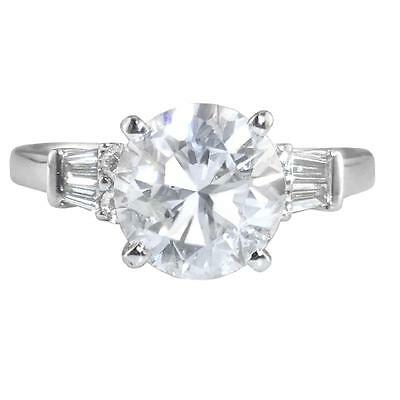 2.31ct Certified Round Brilliant Cut Diamond Solitaire and 18ct White Gold Ring