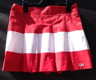 Ladies Lovely Gilly Hicks  Red And White Sports Tennis Skirt Size L(12-14)