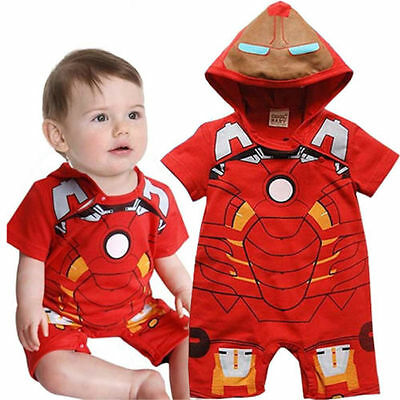 Baby Boy iron Man Romper Bodysuit 12-18 months New With Tags