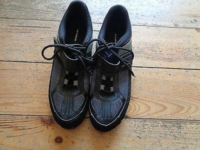 Mens Black Btwin Road Cycling Shoes Size 9.5