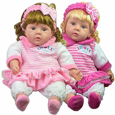 Lifelike Large Size Soft Bodied Chubby Baby Doll Girls Boys Toy With Sounds