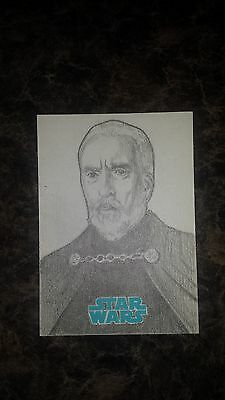 Topps Journey To Star Wars:the Force Awakens Duku Sketch Card By Brent Ragland