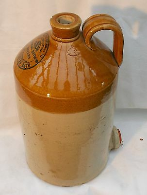 Vintage Very Large Stoneware Flagon Price 21 Bristol for JJBowler Noted Bath Way