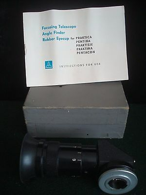 VINTAGE FOCUSING TELESCOPE ANGLE FINDER IN ORIGINAL BOX inc INSTRUCTIONS