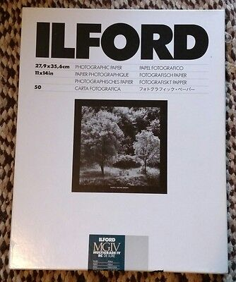 """Ilford 11 x 14"""" Multigrade IV RC Deluxe B&W Paper Pearl Surface 30 Sheets"""