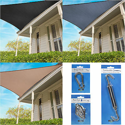 Coolaroo Everyday Triangle Shade Sail Garden Awning Sun Canopy 95% UV 3m or 3.6m