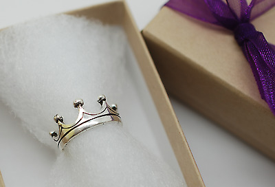 Sterling Silver (925) Adjustable Crown Band Toe Ring
