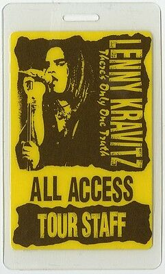 Lenny Kravitz authentic 1991 Laminated Backstage Pass Theres Only One Truth Tour