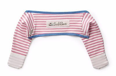 ScratchSleeves | Stay on Scratch mitts | Imperfects | Pink Stripe | 3-6m