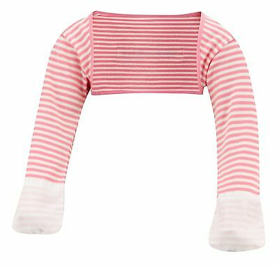 ScratchSleeves | Stay on Scratch mitts | Imperfects | Pink Stripe | 9-12m
