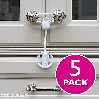 Kiscords Baby Safety Cabinet Locks for Knobs Child Safety Cabinet Latches for Ho