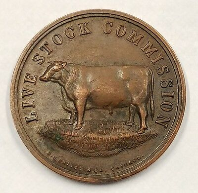 Mallory Live Stock Commission Co. Est. 1862 Chicago, Illinois Bronze Medal Token