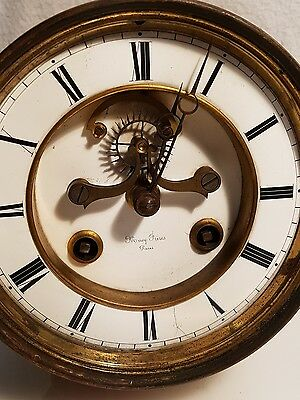 French  8 Day Open Brocot Bell Striking  Clock Movement For Perpetual Calendar