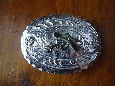 Belt Buckle 45 cal. and Cowboy Hat approx. 4 x 2.75 (C)